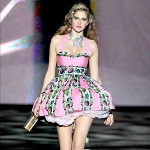 Betsey Johnson Fruits & Ants Picnic Runway Dress